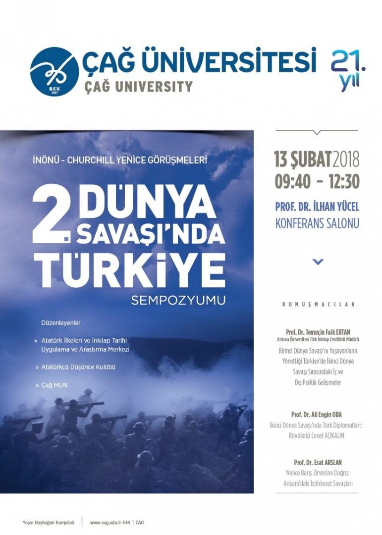 """İnönü-Churchill Yenice Görüşmeleri """"II. Dünya Savaşında Türkiye"""""""