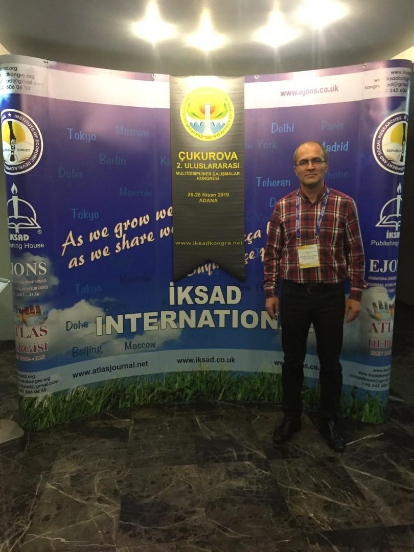 """Dr. Öğr. Üyemiz Şenol Kandemir İKSAD Kongresine """"Türk Bankacılık Sisteminin Dönüşümünde Hukuksal Çerçevenin Gelişimi"""" başlıklı bildirisi ile katıldı."""
