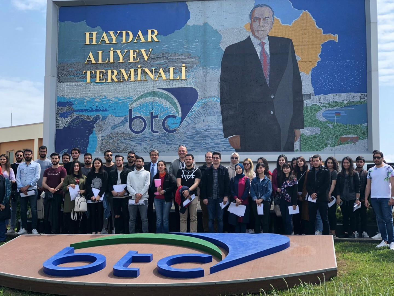 Öğrencilerimiz BOTAŞ INTERNATIONAL tesislerinde arazi etüdü gerçekleştirdi.