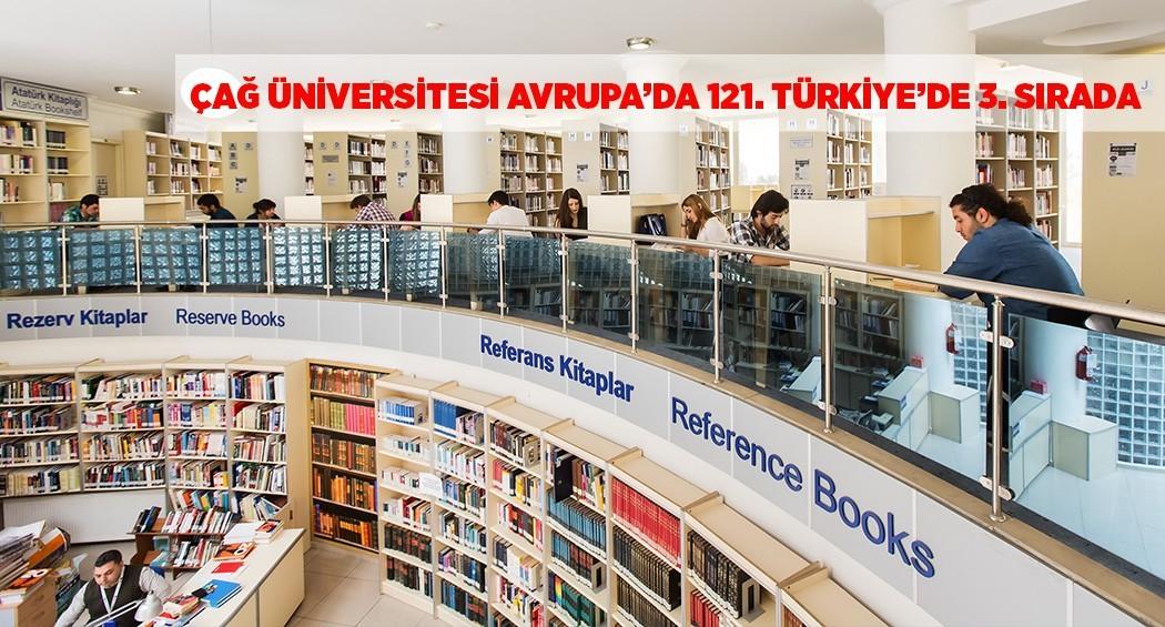 Çağ Üniversitesi Avrupa'da 121. Türkiye'de 3. Sırada