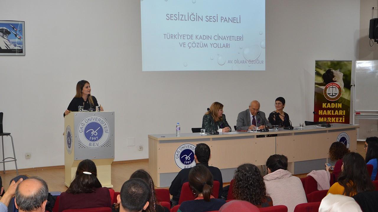 """Özgecan Kadın Hakları Kulübü, Özgecan Aslan Anısına """"SESSİZLİĞİN SESİ """"adlı panel düzenledi"""