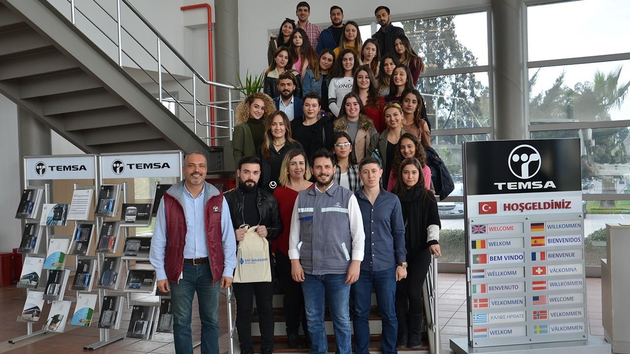 Çağ Halkla İlişkiler Bölümü öğrencilerinin TEMSA Ziyareti