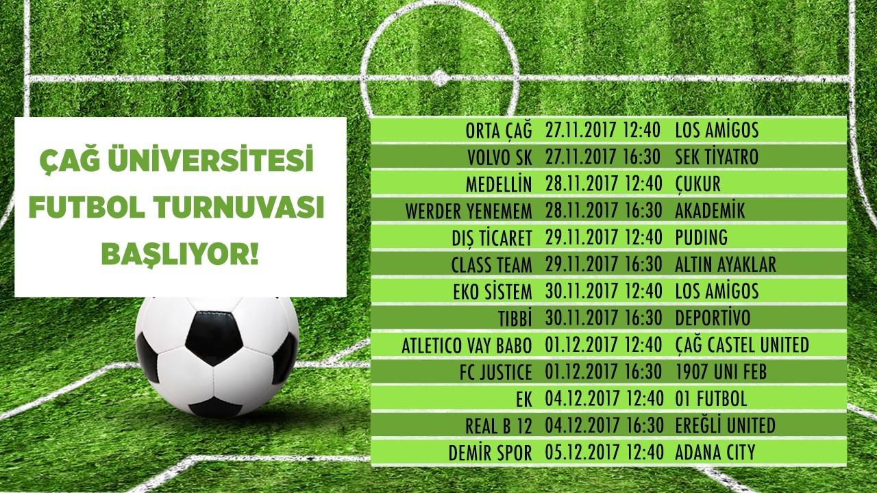ÇAĞ Üniversitesi Futbol Turnuvası Başlıyor!