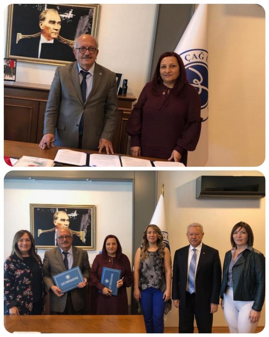 Girişimci İş Kadınları Derneği (GİŞKAD) ve Çağ Üniversitesi İşbirliği Protokolü İmzaladı.