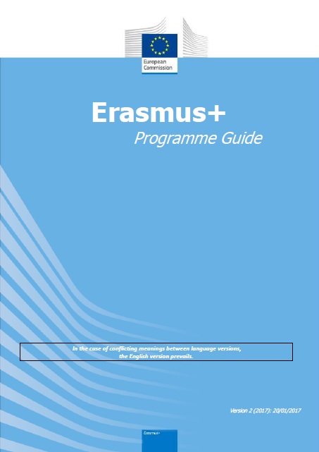 Erasmus Programme Guide (version 2 - 2017) PDF:3.38 MB